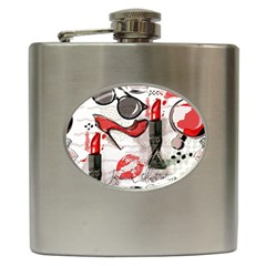 Cosmetic Pattern Hip Flask (6 Oz)