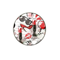 Cosmetic Pattern Hat Clip Ball Marker (4 Pack)