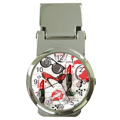 Cosmetic Pattern Money Clip Watches