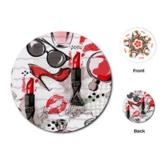 Cosmetic Pattern Playing Cards (round)