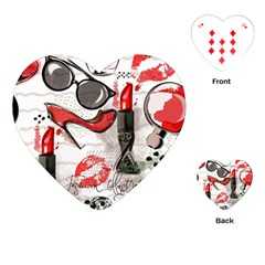 Cosmetic Pattern Playing Cards (heart)