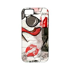 Cosmetic Pattern Apple Iphone 5 Classic Hardshell Case (pc+silicone)