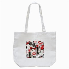 Cosmetic Pattern Tote Bag (white)