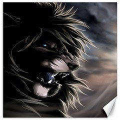 Angry Lion Digital Art Hd Canvas 16  X 16