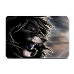 Angry Lion Digital Art Hd Small Doormat