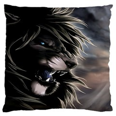 Angry Lion Digital Art Hd Large Cushion Case (one Side)