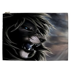 Angry Lion Digital Art Hd Cosmetic Bag (xxl)