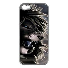Angry Lion Digital Art Hd Apple Iphone 5 Case (silver)