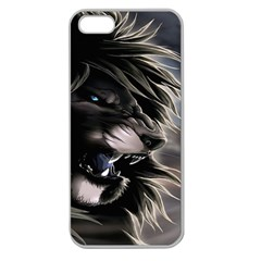 Angry Lion Digital Art Hd Apple Seamless Iphone 5 Case (clear)