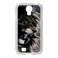 Angry Lion Digital Art Hd Samsung Galaxy S4 I9500/ I9505 Case (white)