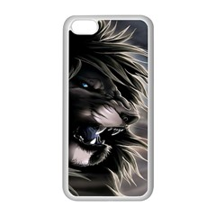 Angry Lion Digital Art Hd Apple Iphone 5c Seamless Case (white)