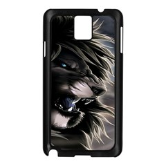Angry Lion Digital Art Hd Samsung Galaxy Note 3 N9005 Case (black)