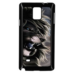 Angry Lion Digital Art Hd Samsung Galaxy Note 4 Case (black)