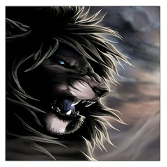 Angry Lion Digital Art Hd Large Satin Scarf (square)