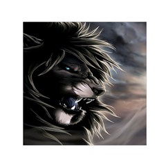 Angry Lion Digital Art Hd Small Satin Scarf (square)