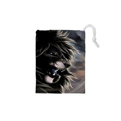 Angry Lion Digital Art Hd Drawstring Pouches (xs)