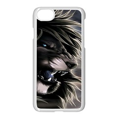 Angry Lion Digital Art Hd Apple Iphone 7 Seamless Case (white)
