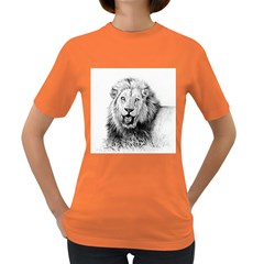 Lion Wildlife Art And Illustration Pencil Women s Dark T Shirt