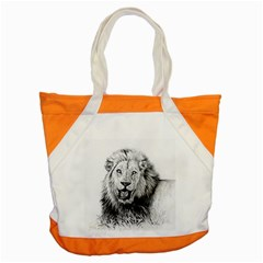 Lion Wildlife Art And Illustration Pencil Accent Tote Bag