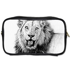 Lion Wildlife Art And Illustration Pencil Toiletries Bags 2 Side