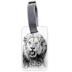 Lion Wildlife Art And Illustration Pencil Luggage Tags (two Sides)