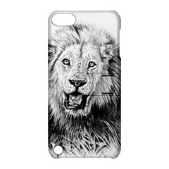 Lion Wildlife Art And Illustration Pencil Apple Ipod Touch 5 Hardshell Case With Stand