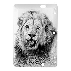 Lion Wildlife Art And Illustration Pencil Kindle Fire Hdx 8 9  Hardshell Case