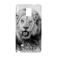Lion Wildlife Art And Illustration Pencil Samsung Galaxy Note 4 Hardshell Case