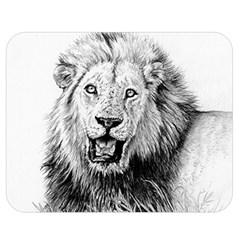 Lion Wildlife Art And Illustration Pencil Double Sided Flano Blanket (medium)
