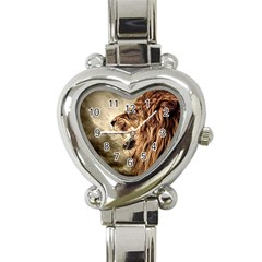 Roaring Lion Heart Italian Charm Watch