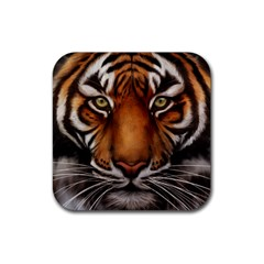 The Tiger Face Rubber Square Coaster (4 Pack)