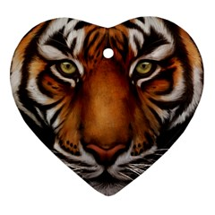The Tiger Face Heart Ornament (two Sides)