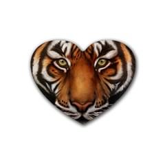 The Tiger Face Rubber Coaster (heart)