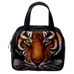 The Tiger Face Classic Handbags (one Side)