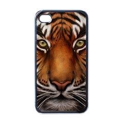 The Tiger Face Apple Iphone 4 Case (black)