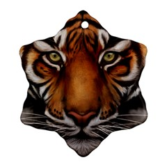 The Tiger Face Ornament (snowflake)
