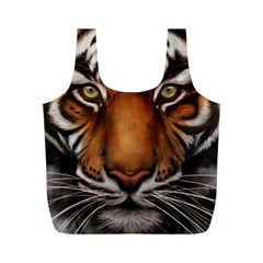 The Tiger Face Full Print Recycle Bags (m)
