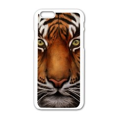 The Tiger Face Apple Iphone 6/6s White Enamel Case