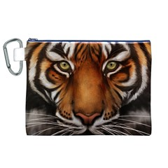 The Tiger Face Canvas Cosmetic Bag (xl)