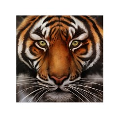 The Tiger Face Small Satin Scarf (square)