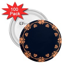 Floral Vintage Royal Frame Pattern 2 25  Buttons (100 Pack)