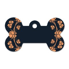 Floral Vintage Royal Frame Pattern Dog Tag Bone (one Side)
