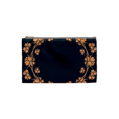 Floral Vintage Royal Frame Pattern Cosmetic Bag (small)
