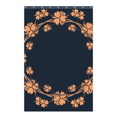 Floral Vintage Royal Frame Pattern Shower Curtain 48  X 72  (small)