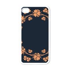 Floral Vintage Royal Frame Pattern Apple Iphone 4 Case (white)