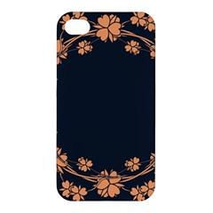 Floral Vintage Royal Frame Pattern Apple Iphone 4/4s Hardshell Case