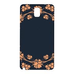 Floral Vintage Royal Frame Pattern Samsung Galaxy Note 3 N9005 Hardshell Back Case
