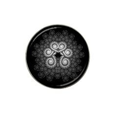 Fractal Filigree Lace Vintage Hat Clip Ball Marker