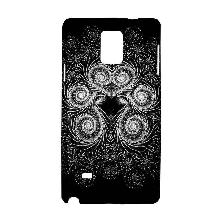 Fractal Filigree Lace Vintage Samsung Galaxy Note 4 Hardshell Case