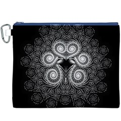 Fractal Filigree Lace Vintage Canvas Cosmetic Bag (xxxl)